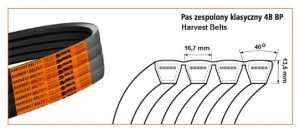 PAS HARVEST BELTS 4B BP/H-2420 BI 51654172420
